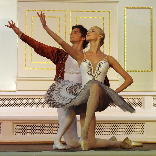 Danseurs en tenue de danse classique