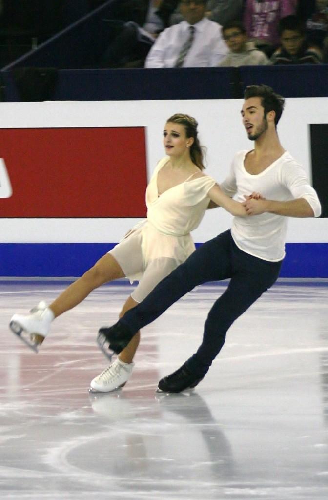 Le couple lors du Championnat d'Europe