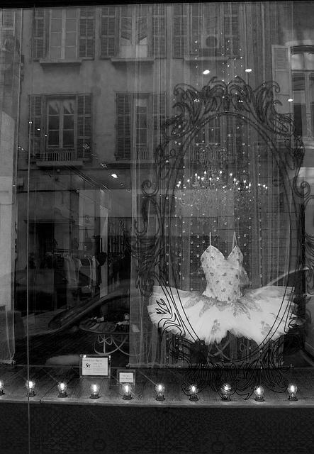 Tutu de ballet en vitrine