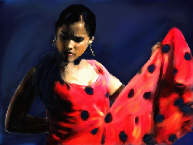 Une danseuse de flamenco.