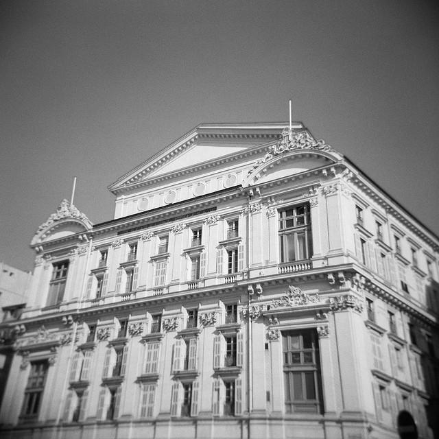 Façade de l'opéra de Nice.