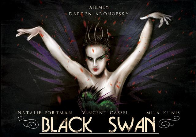 Affiche de film revisitée du film Black Swan.