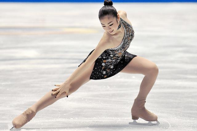 La patineuse olypique Kim Yun-a, championne sud-coréenne, en tenue de patinage.
