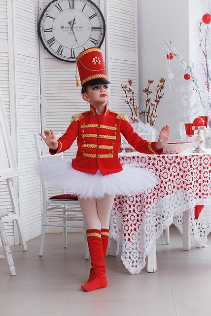 Tenue de danse pour enfant de Casse-Noisette.