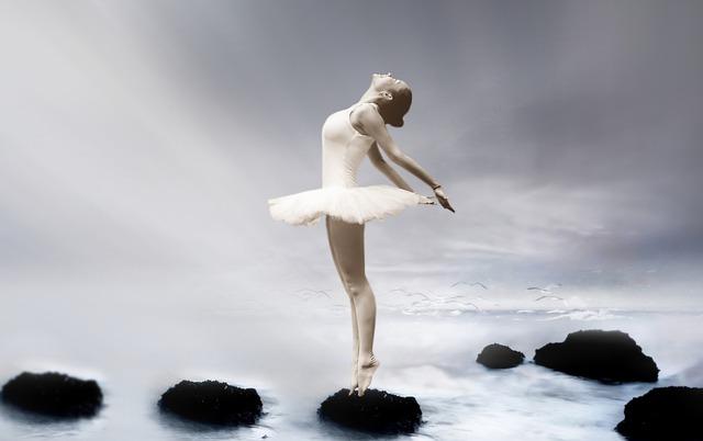 Une ballerine en harmonie avec le monde qui l'entoure.