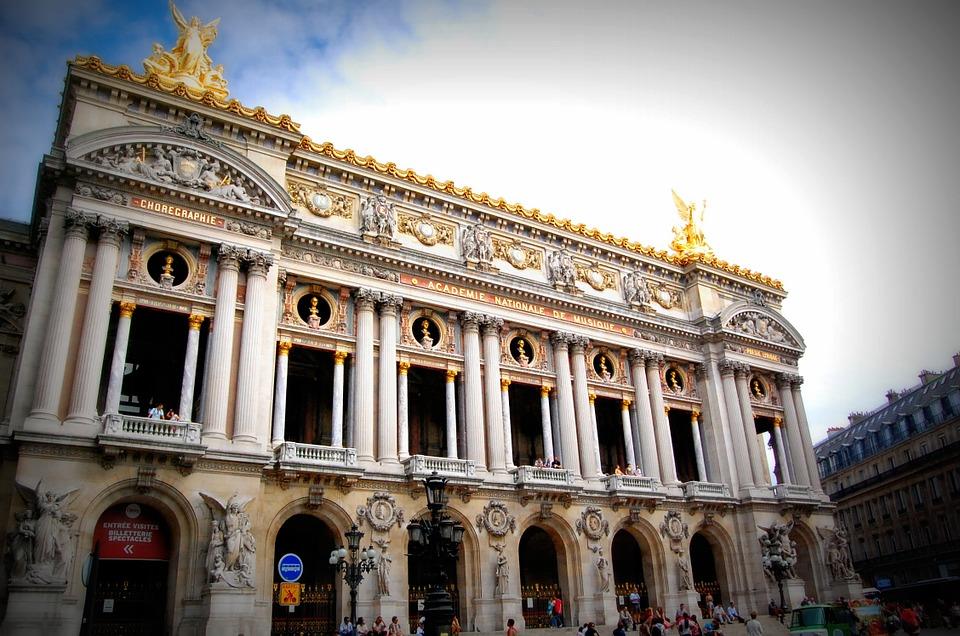 L'opéra Garnier de Paris.