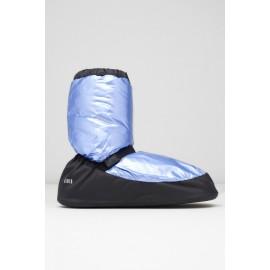 Bottes de chauffe danse BLOCH METALLIC WARM UP BOOTIES IM009MT bleu clair métallisé