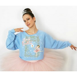 sweat crop top BALLET PAPIER SWEET BALLET adulte