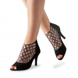 Chaussures de danse de salon WERNER KERN FEMME bottines daim noir et strass