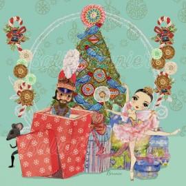 cartes de voeux Noël BALLET PAPIER