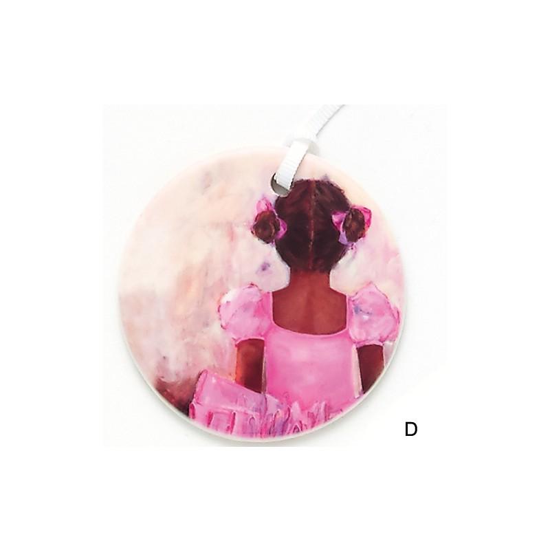 pendentif médaillon DASHA DESIGNS ballerine