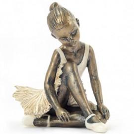 Statuette Résine Danseuse assise genou haut DASHA DESIGNS