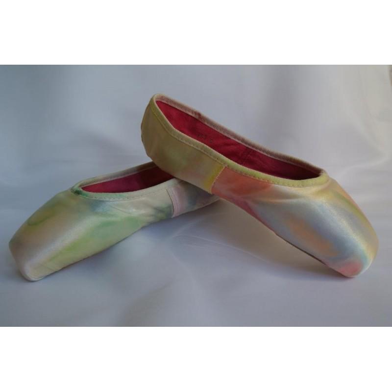 """chaussons de danse pointes décorés main SÈV """"JAPON"""" sur Merlet N°2"""