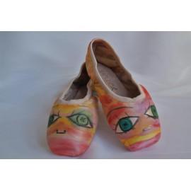 """chaussons de danse pointes décorés main SÈV """"MIGNONE"""" sur Capezio Plié"""