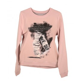 sweat LIKEG  LG-SW-1P PINK SWEATER