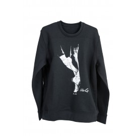 sweat LIKEG  LG-SW-18B Black Sweater