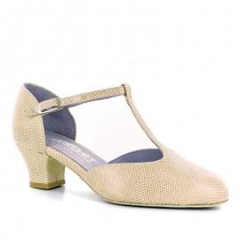 Chaussures de danse de salon MERLET EVA FEMME cachemire cuir vipera