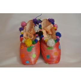 """chaussons de danse pointes décorés main SÈV """"JASMINE"""" sur Merlet Mira"""
