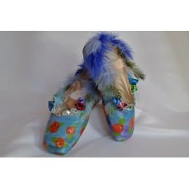 """chaussons de danse pointes décorés main SÈV """"EDEN"""" sur Merlet Mira"""