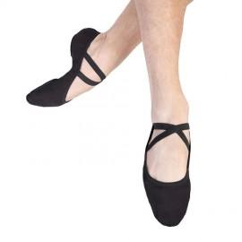 chaussons de danse demi-pointes BLOCH PERFORMA toile black homme