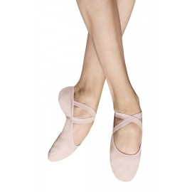 chaussons de danse demi-pointes BLOCH PERFORMA toile theatrical pink femme