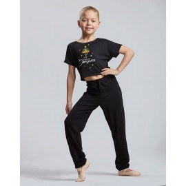 t-shirt court danse TEMPS DANSE AGILE JR PRINCESS enfant