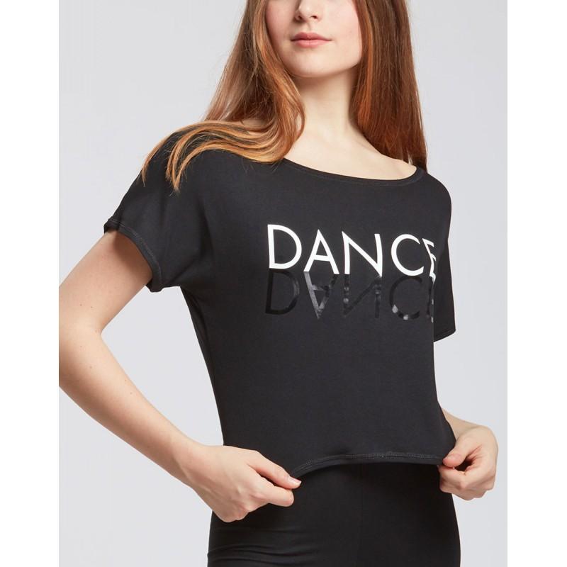 t-shirt court danse TEMPS DANSE AGILE MIRROR adulte