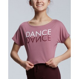 t-shirt court danse TEMPS DANSE AGILE MIRROR adulte