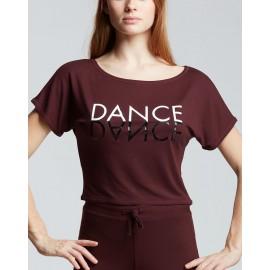 t-shirt court danse TEMPS DANSE AGILE JR MIRROR enfant