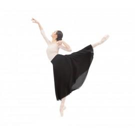 Jupe danse réversible REPETTO en mousseline noire