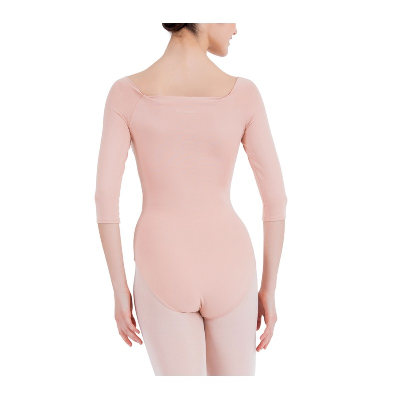 Justaucorps danse REPETTO manches 3/4 nude