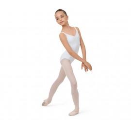 Justaucorps danse REPETTO enfant dos dentelle blanc
