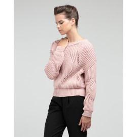 pull maille 3D REPETTO rose blush