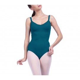 Justaucorps danse REPETTO finitions fantaisies vert paon