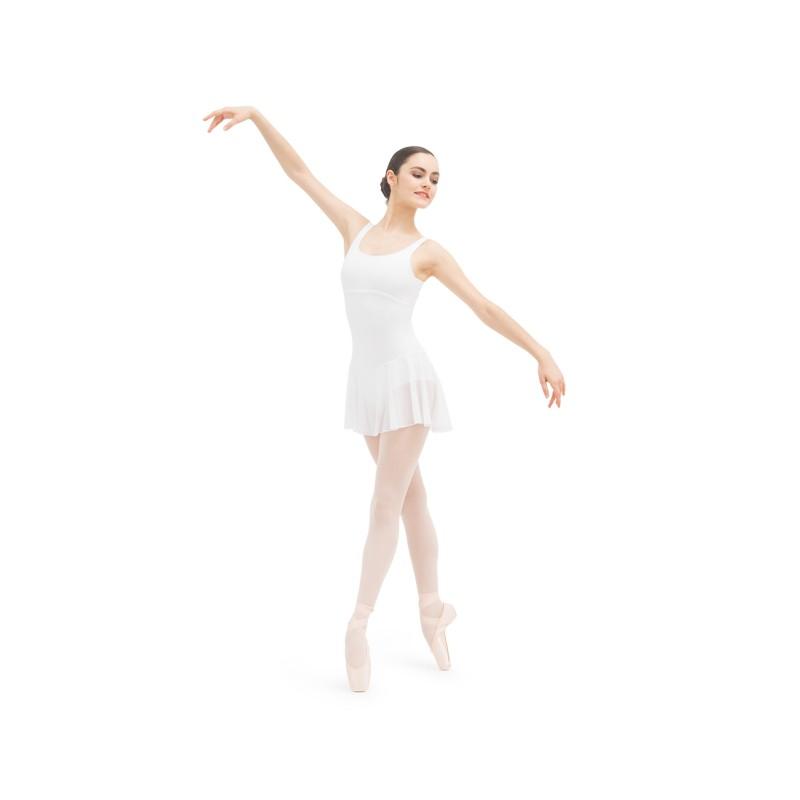 tunique danse classique REPETTO D083 à larges bretelles blanc