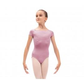 Justaucorps danse REPETTO manches courtes rosée enfant