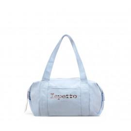 sac de danse REPETTO Polochon Taille S coton bleu porcelaine