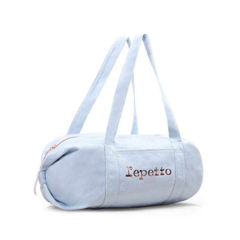 sac de danse REPETTO Polochon taille M coton bleu porcelaine