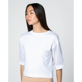 t-shirt manches 3/4 résille REPETTO blanc