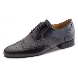 chaussure danse sportive homme WERNER KERN 28023 cuir et daim nappa noir