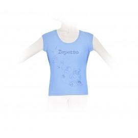 tee-shirt REPETTO enfant à fleurs bleu ciel