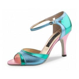 Chaussures de danse de salon WERNER KERN ALESSIA FEMME laminé vert ciel rose