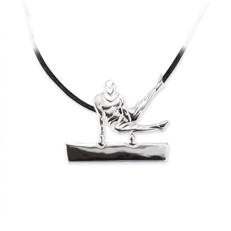 pendentif gymnaste MIKELART CHEVAL CISAILLEMENT FRONTAL