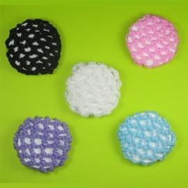 cache-chignon crochet scintillant DASHA DESIGNS petit modèle