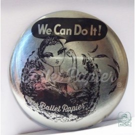 miroir de poche BALLET PAPIER We Can Do It