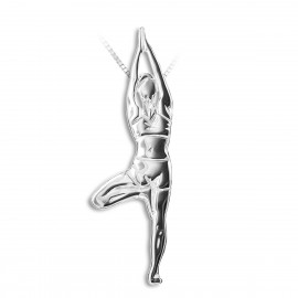 pendentif yoga MIKELART VRKASANA Position de l'arbre