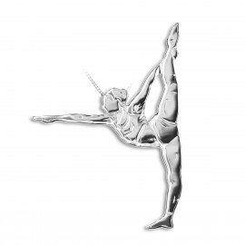 pendentif yoga MIKELART DANDAYAMANA DHANURASANA Position de l'arc debout