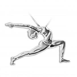 pendentif yoga MIKELART UTTHITA ASHWA SANCHALANASANA La fente haute