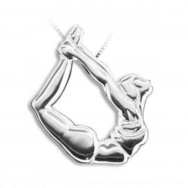 pendentif yoga MIKELART DHANURASANA Posture de l'arc