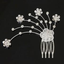 peigne danse classique DASHA DESIGNS fleurs et strass